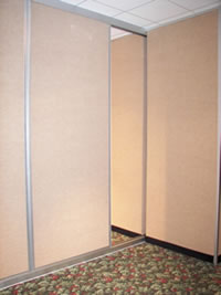 Sliding and folding room iders modular walls panel systems