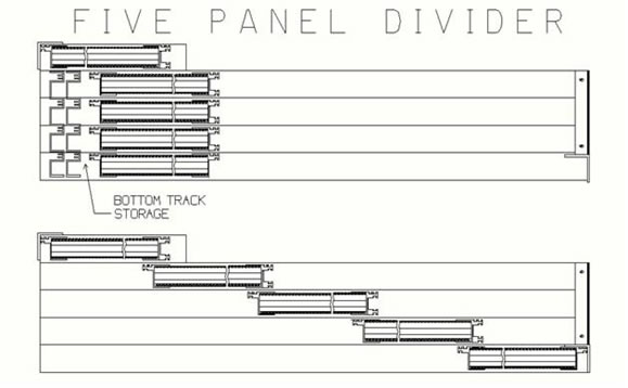 Sliding Room Divders SA 1 Panel Systems Manufacturing Inc
