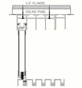 SA1 Sliding Room Divider Track Illustration